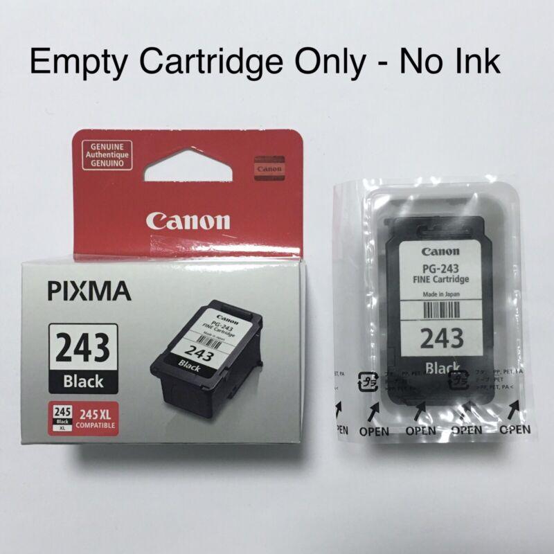 Original CANON PG-243 EMPTY BLACK CARTRIDGE~NO INK Never Refilled~Genuine PIXMA