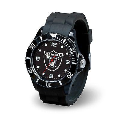 Oakland Raiders NFL Football Team Men's Black Sparo Spirit Watch