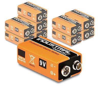 10 x Duracell 9V Block Industrial Batterie 6LR61 MN1604 E-Block Alkaline 10 Stk