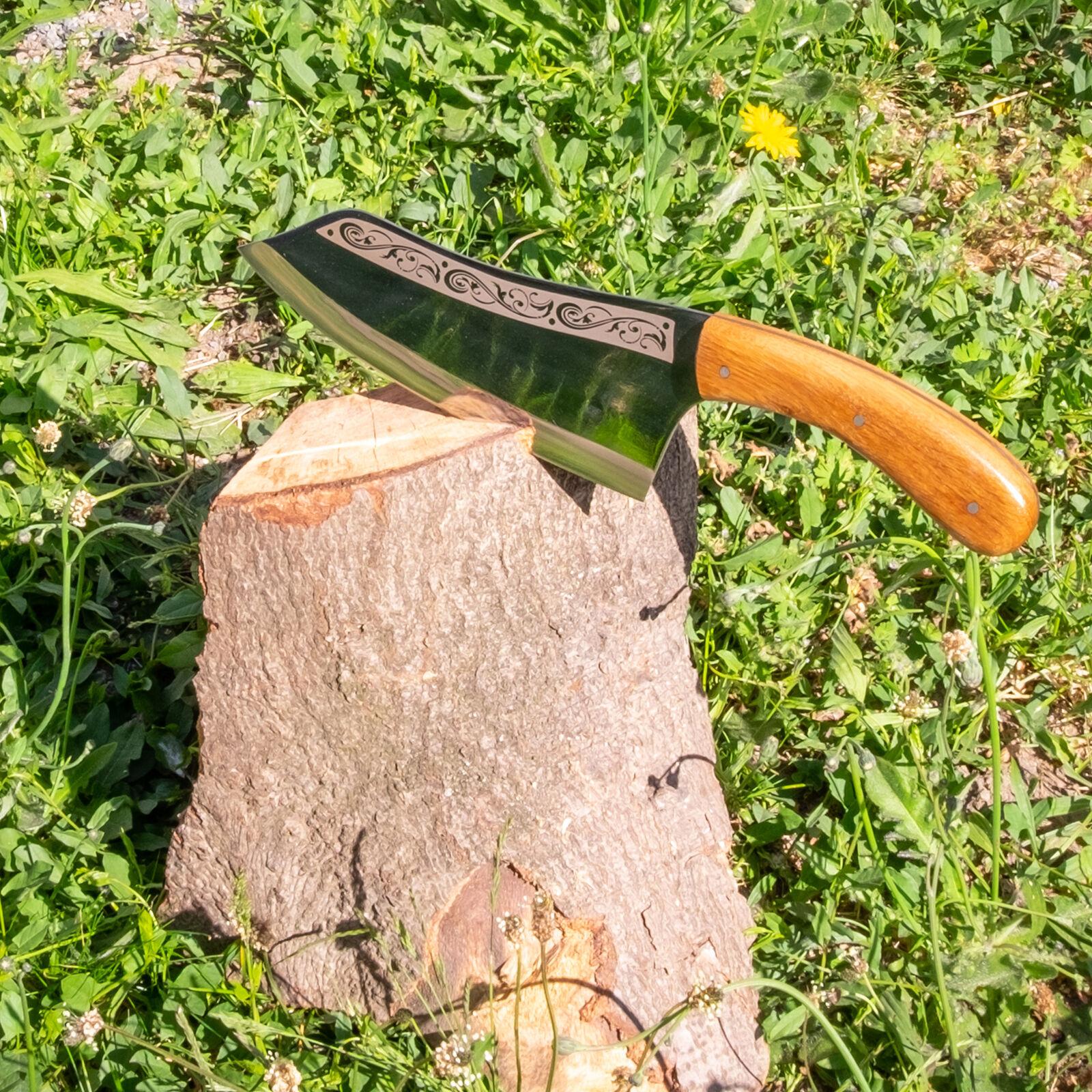 32,5cm Messer Beil Hackmesser Chinesisches Kochmesser Obstmesser Edelstahl