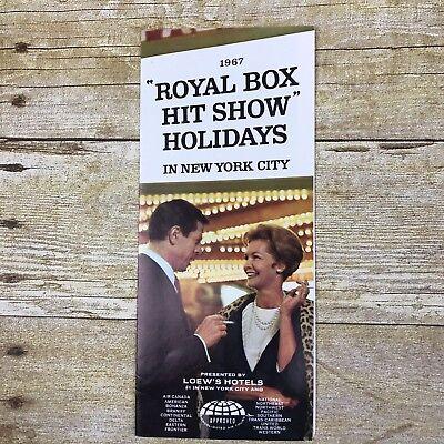 Vintage Brochure 1967 Royal Box Theater Show New York City NY Advertising