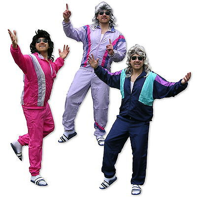 Bad Taste Party Kleidung 80s, 90s Trainingsanzug Jogginganzug Verkleidung Kostüm (Bad Taste Party Kostüm)