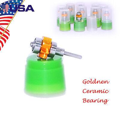 Large Dental Golden Turbine Cartridge Ceramic Bearing Push High Speed Handpiece