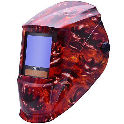 Antra™ AH7-X90-7333 Solar Power Auto Darkening Welding Helmet Shade 4/5-9/9-13