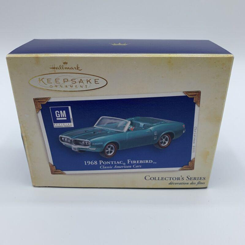 2005 Hallmark Keepsake 1968 Pontiac Firebird Classic American Cars Ornament EXC