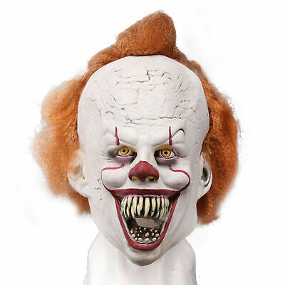 Creepy Clown Halloween Costume (Scary Clown Mask Cosplay Latex Mask Creepy Halloween Costume Adults)