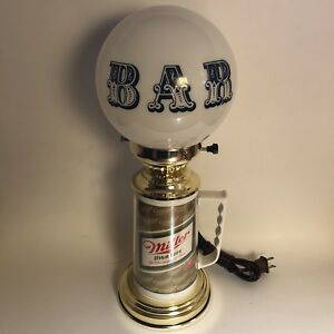 Miller High Life Beer Tankard Mug Bar Globe Lamp Light