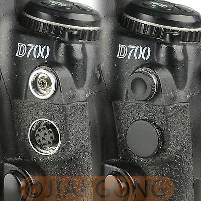 как выглядит Оптовая партия аксессуаров для видеокамер и фотоаппаратов 10pcs/Lot Remote Terminal Cap Metal Cover For Nikon D200 D2X S3 S5 Camera фото