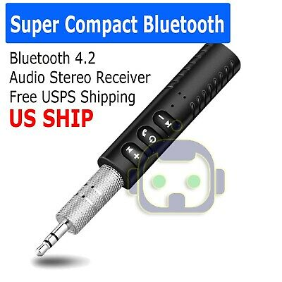 - Bluetooth V4.2 Transmitter Receiver Wireless A2DP Audio Music 3.5mm Aux Adapter
