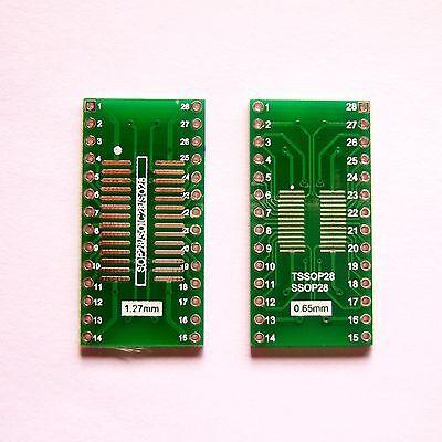 10 Pcs So Sop Soic Ssop Tssop 28 Pin To Dip28 Adapter Pcb Board Converter B08