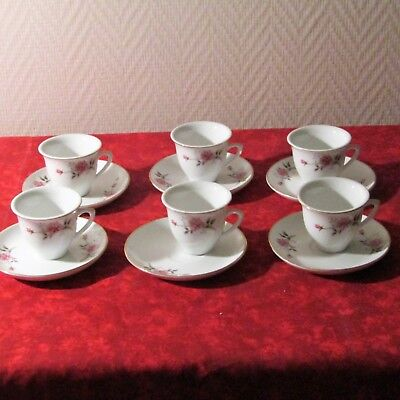 6 Cup A Mocha Porcelain Chinese