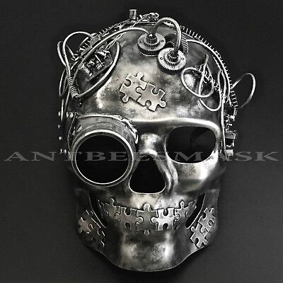 NEW Steampunk Wire Twist Goggles Halloween Skull Cosplay Costume Mask (Spin Halloween Costumes)