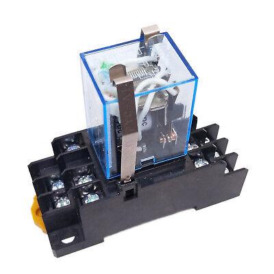Us Stock My3n-j My3nj Hh53pl Jqx-13f 12v Dc Coil Cube Relay Socket Base