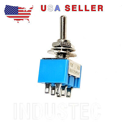 Industec 12v Dpdt Micro Toggle Switch 2 Pos