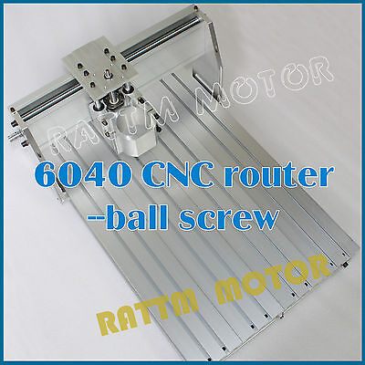 3 Axis 6040 Desktop Cnc Router Engraver Milling Machine Ballscrew Frame 80mm Kit