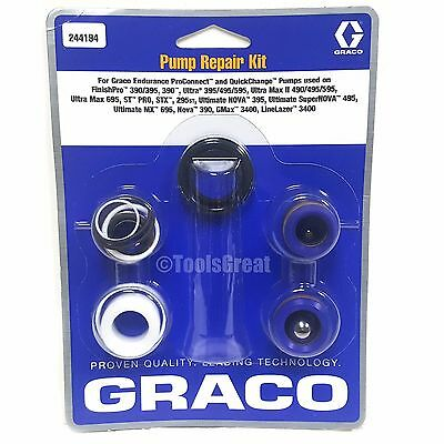 Graco 390 395 490 495 650 Airless Sprayer Pump Packing Repair Kit 244194