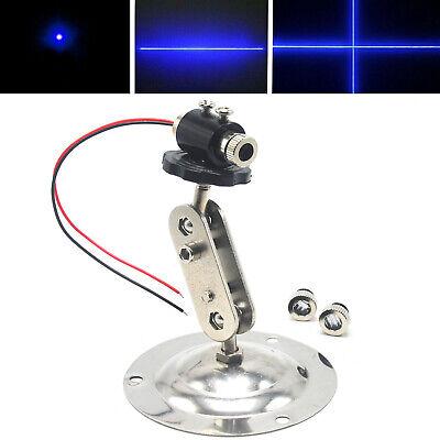 Focusable 450nm 50mw Blue Dot Line Cross Laser Diode Module Driver 3-5v Holder