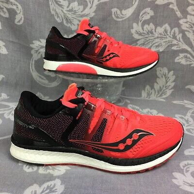 rare SAUCONY LIBERTY ISO ViZiRed Black running/walking shoe 40 women's 8.5 for sale  Shipping to India