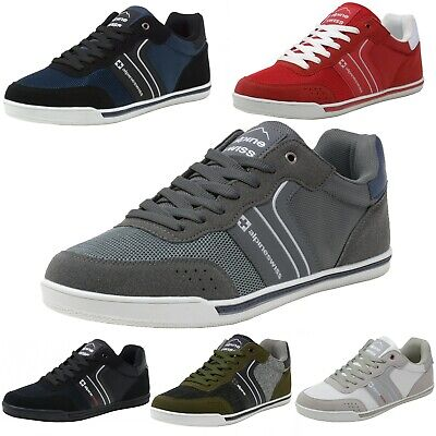 Alpine Swiss Liam Mens Fashion Sneakers Suede Trim Low Top Lace Up Tennis Shoes - Fashion Sneakers Lace