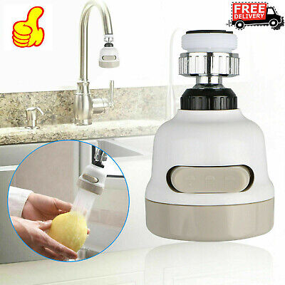 360 Water - Flexible Kitchen Tap Head 360° Rotatable Faucet Water Saving Filter Sprayer New