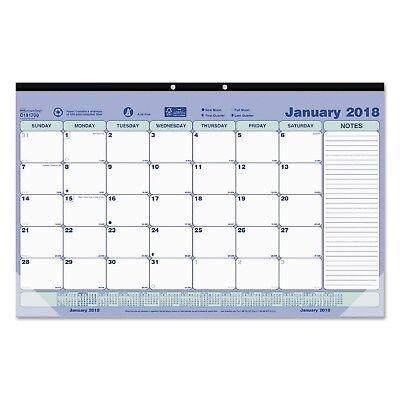 Brownline Monthly Desk Pad Calendar 17 34x10 78 2018 Redc181700