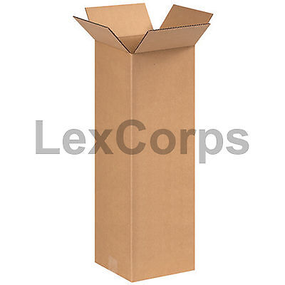 25 Qty 8x8x24 Shipping Boxes Lc Mailing Moving Cardboard Storage Packing