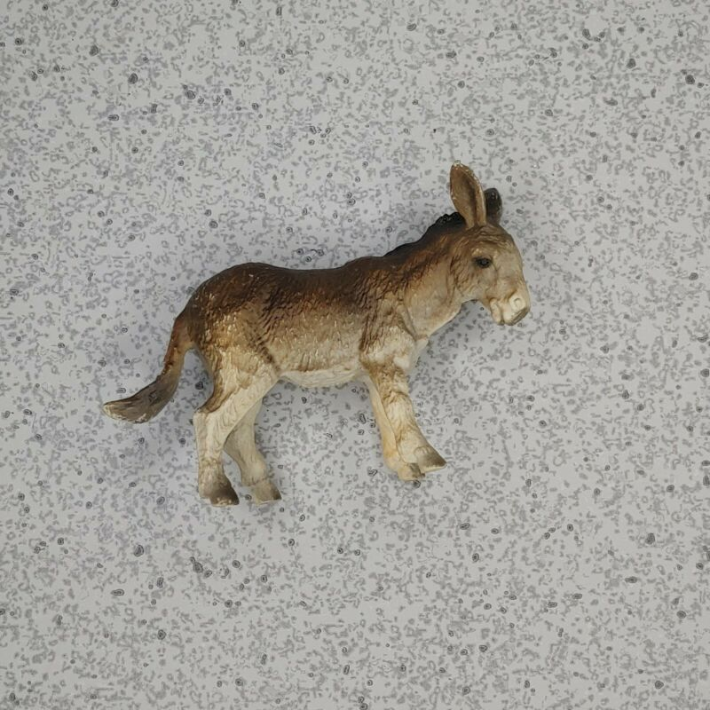Vintage 1989 Schleich Donkey Foal Baby Figure Figurine Germany