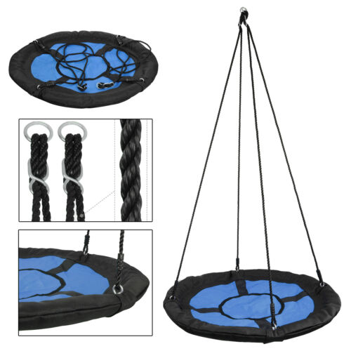"Giant 40"" Saucer Round Oxford Detachable Tree Swing w/Safe P"