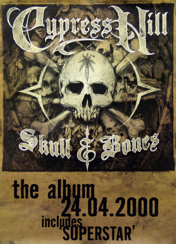 Cypress Hill 2000 Skull & Bones Original UK Promo Poster