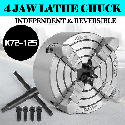 Lathe Chuck K72-125 5 4 Jaw Independent Wood Turning Lathe Chuck Cast Iron