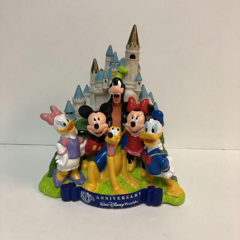 Walt Disney World Castle Piggy Bank Vintage 30th Anniversary MISSING STOPPER