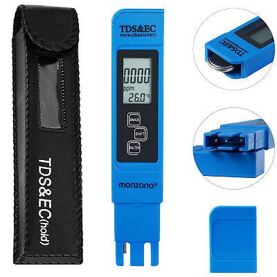 TDS Meter Messgerät Wassertester Digital Wasser Wert EC Tester Chlor LCD Monzana