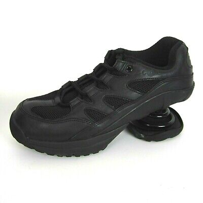 Z-COIL Freedom Womens 9 Black Leather Mesh Spring Lace Up Athletic Shoe Walking