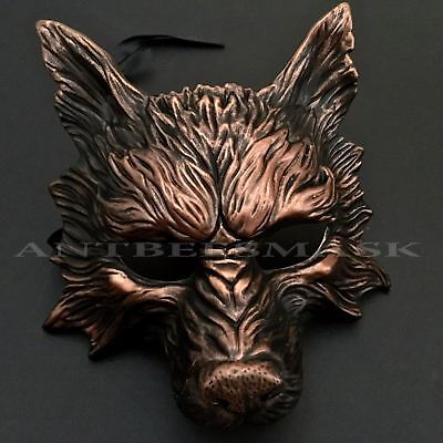 Halloween Scary Howler Werewolf Moon Night Costume Party Deluxe Mask