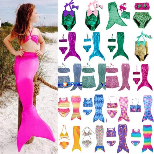 Kinder Mädchen Meerjungfrau Schwanz Bikini Badeanzug Bademode Strandkleidung