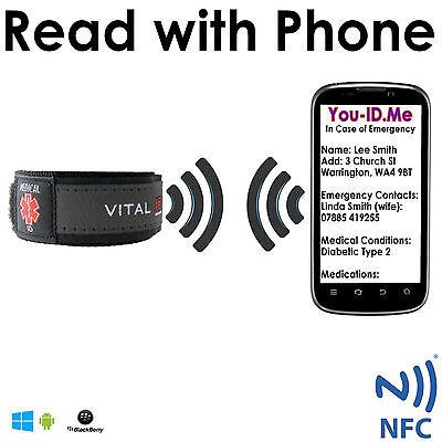 SMART Medical ID Wrist Band Identity Bracelet Mobile Phone Adult Child Emergency Emergency Id Band