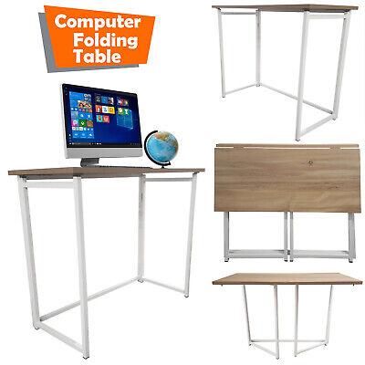 Foldable Computer Desk Folding Study Writing Desk Laptop PC Table Home Office