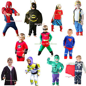 Halloween-Superman-Robin-Batman-Buzz-Hero-Party-Boy-Girl-Drss-Up-Cosplay-Costume
