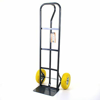 HEAVY DUTY SACK TRUCK 550LB INDUSTRIAL HAND TROLLEY PUNCTURE PROOF PU WHEELS NEW