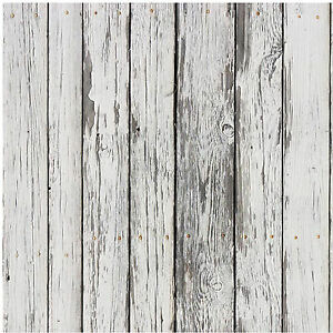 Parato carta da parati adesiva effetto legno shabby for Carta da parati adesiva effetto mattone