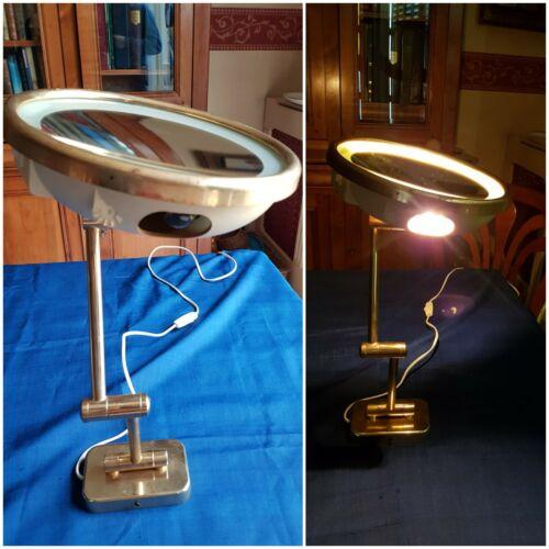 Ancien miroir grossissant lumineux, lampe arpin, années 1950/60, vintage.