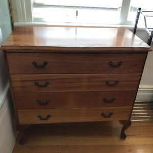 BLACKWOOD CHEST OF DRAWERS