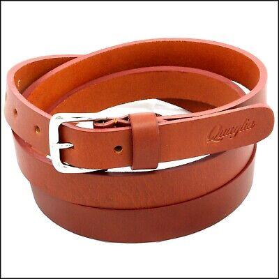 Cintura Donna vera Pelle Marrone Cinta Uomo in Cuoio Sportiva Casual di da 2,5cm