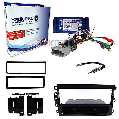 Radio Replacement Interface & 1-DIN Dash Install Kit for No Onstar GMC/Chevrolet