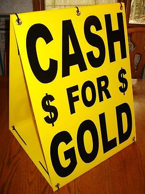 Cash For Gold Sandwich Board Sign 2-sided Kit New