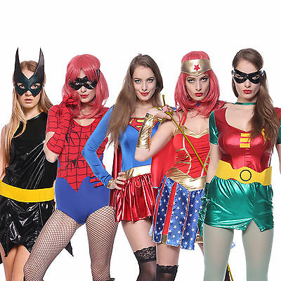 Adult Sexy Robin BatGirl Wonder Spiderwoman Superhero Halloween Carnival Outfit - Batgirl Adult Costumes