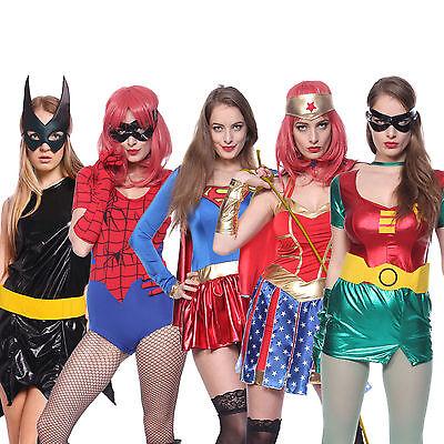 Adult Sexy Robin BatGirl Wonder Spiderwoman Superhero Halloween Carnival - Robin Halloween