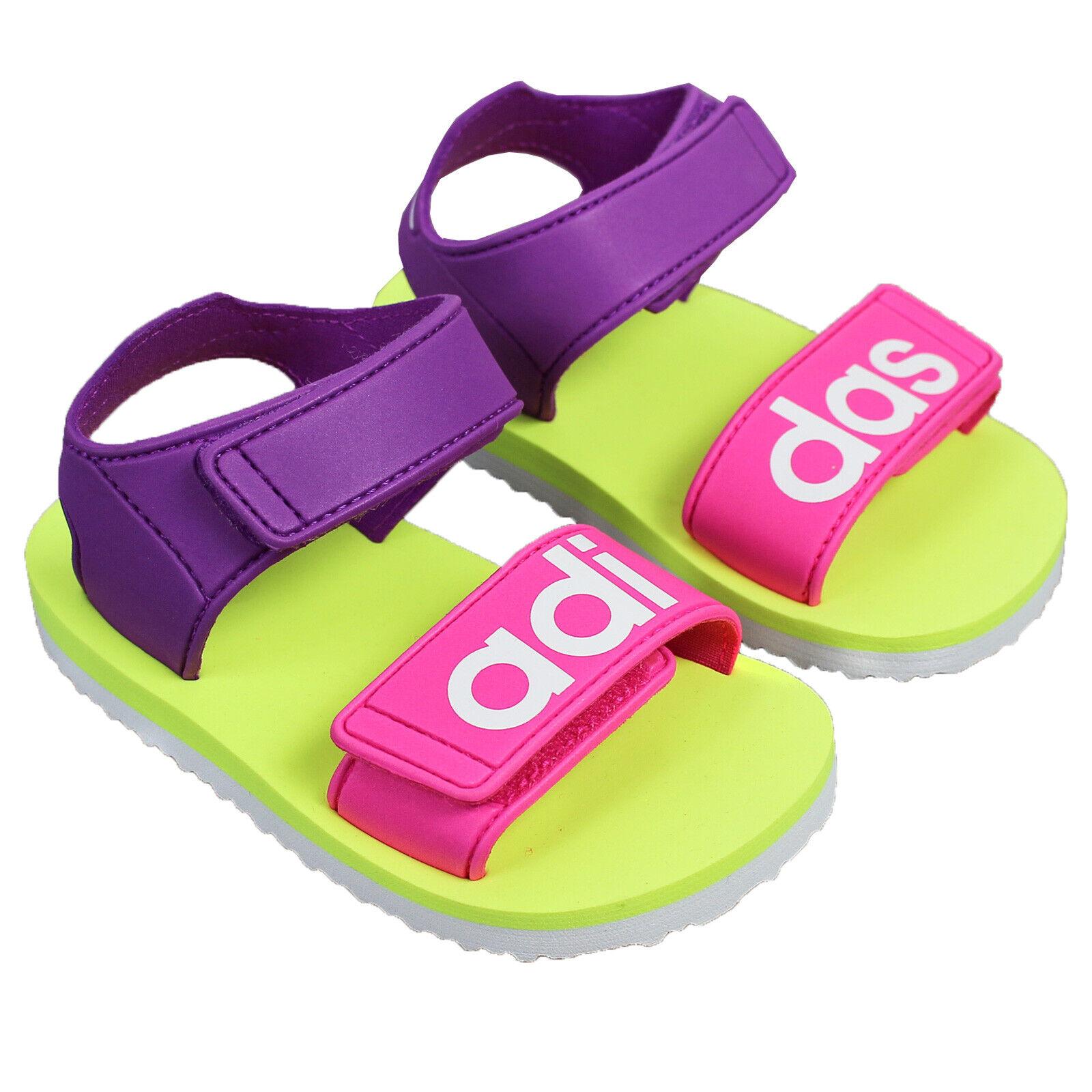 adidas Beach Sandale Kinder Badeschuhe Sommerschuhe Strand Schwimmbad Pink Lila