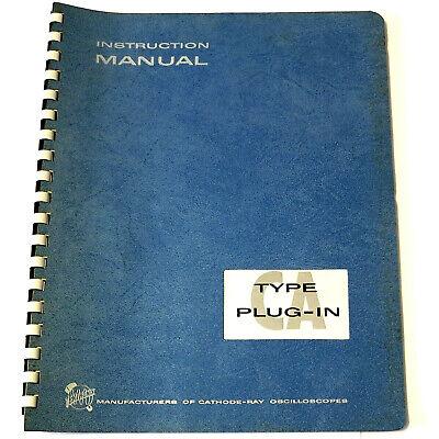 Tektronix Ca Plug-in - 540 Series Oscilloscope Instruction Manual 070-318 Book