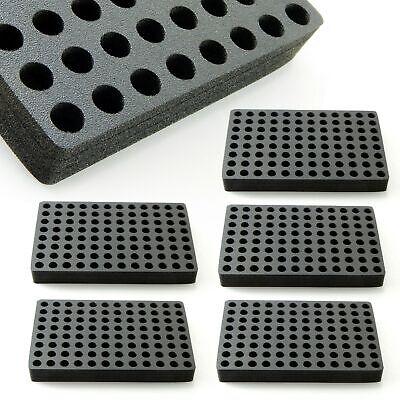 5 Vial Racks Organizer Storage Foam Stand Holder 96 Capacity Hplc 13mm Diameter